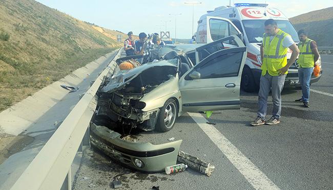 Gurbetçi aile kaza yaptı... 1 Ölü 5 yaralı