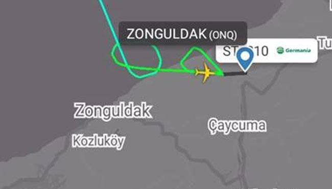 Almanya uçağı inişte zorlandı…