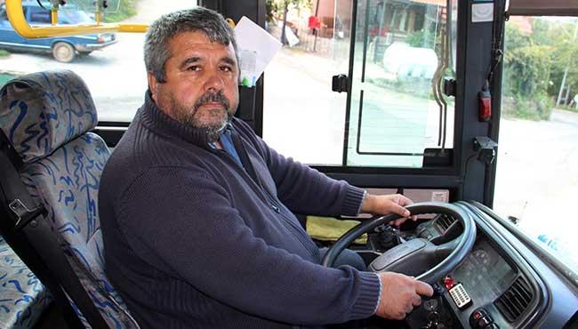 Halk otobüsü ile acile getirildi...