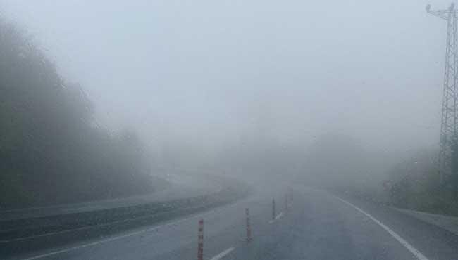 Yoğun sis...