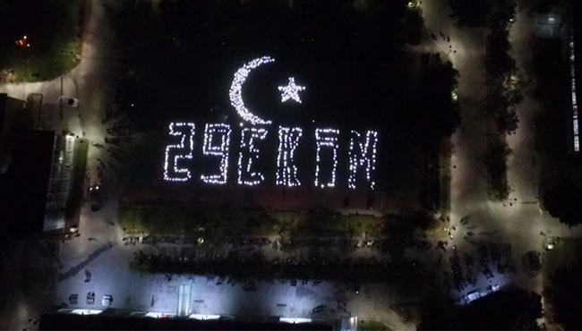Bu görüntüler Zonguldak'tan... Muhteşem koreografi...