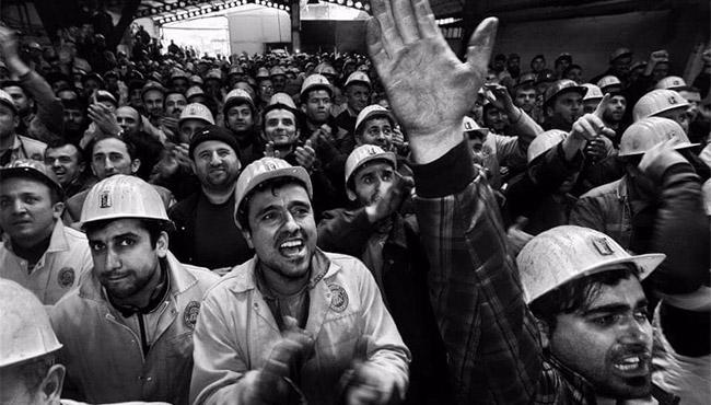 Eylem yapan madencilere ceza...