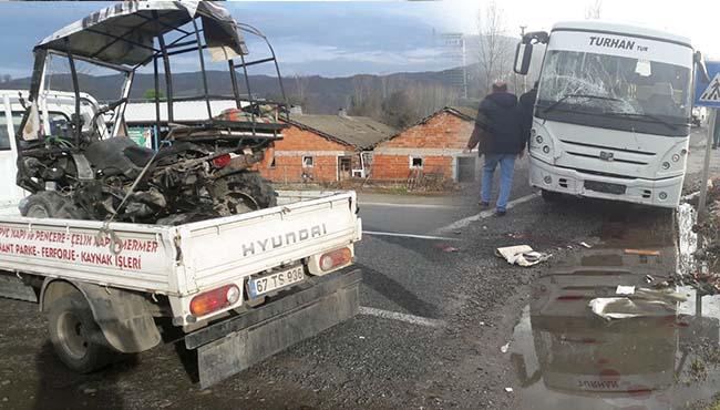 ATV aracı ile çarpıştı... 1 yaralı...