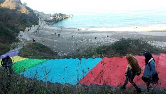 Kızlar Plajı renklendi...