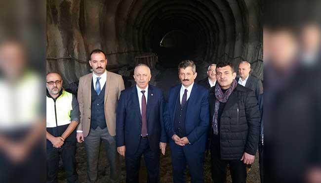 Mithatpaşa Tünelleri'nde incelemelerde bulundular...