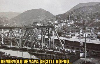 Demiryolu ve yaya geçitli köprü...