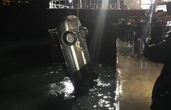 Denize uçtu, 2 kişi kurtarıldı...