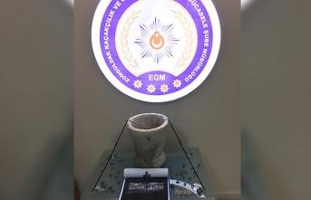 Tarihi eser operasyonu; 'Mehmet' yazılı mühür bulundu...