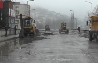 Kış ortasında asfalt yapılacak...