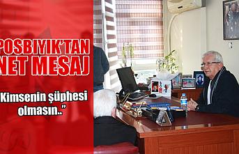 Halil Posbıyık ofisinden seslendi