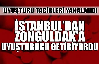 Uyuşturucu tacirleri yakalandı... İstanbul'dan Zonguldak'a getiriyordu