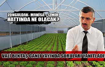 Zonguldak- Manisa – İzmir hattında ne olacak? Vali Bektaş soruları yanıtladı!