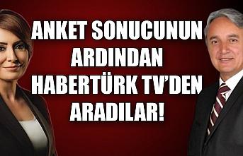 Anket sonucunun ardından Habertürk TV'den aradılar!