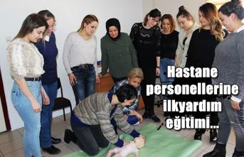 Hastane personellerine ilkyardım eğitimi...