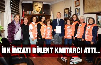 İlk imzayı Bülent Kantarcı attı...
