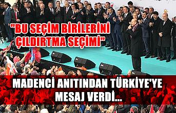 """Madenci anıtından Türkiye'ye mesaj verdi... """"Bu seçim birilerini çıldırtma seçimi"""""""
