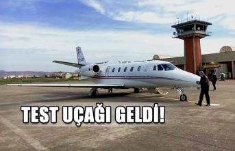 Test uçağı geldi!