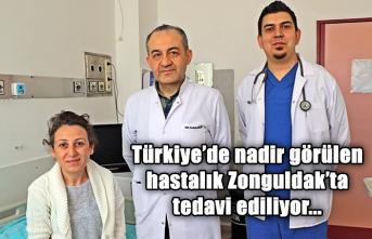 Türkiye'de nadir görülen hastalık Zonguldak'ta tedavi ediliyor...
