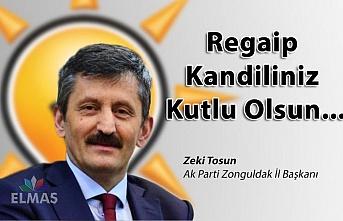 Zeki Tosun Regaip Kandilini kutladı!