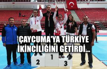 Çaycuma'ya Türkiye ikinciliğini getirdi...