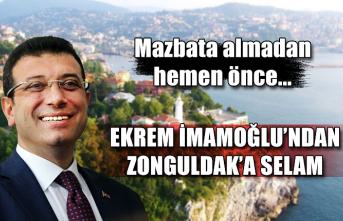 Ekrem İmamoğlu'ndan Zonguldak'a selam... Mazbata almadan hemen önce...