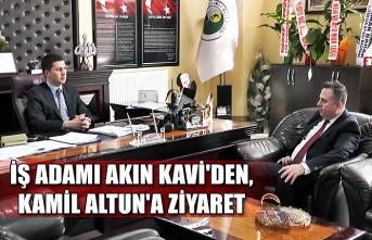 İş adamı Akın Kavi'den, Kamil Altun'a ziyaret...