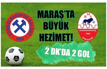 Maraş'ta büyük hezimet! 2 dakikada 2 gol!