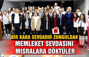 """Memleket sevdasını mısralara döktüler.... """"Bir kara sevdadır Zonguldak"""""""