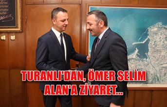 Turanlı'dan, Ömer Selim Alan'a ziyaret...