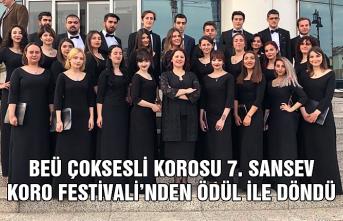 BEÜ Çoksesli Korosu 7. SANSEV Koro Festivali'nden ödül ile döndü...