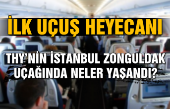 İlk uçuş heyecanı... THY'nin İstanbul-Zonguldak uçağında neler yaşandı?