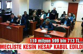Mecliste kesin hesap kabul edildi...