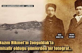 Nazım Hikmet'in Zonguldak'ta misafir olduğu günlerden bir fotoğraf...