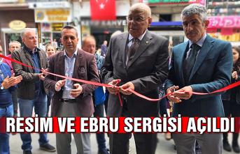 Resim ve Ebru sergisi açıldı