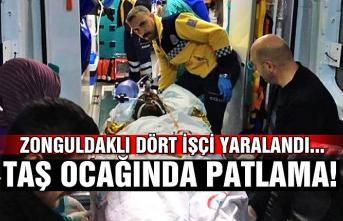 Taş ocağında patlama! Zonguldaklı dört işçi yaralandı...