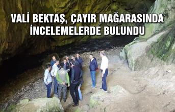 Vali Bektaş, Çayır Mağarasında incelemelerde bulundu...