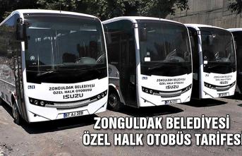 Zonguldak Belediyesi Özel Halk Otobüs Tarifesi