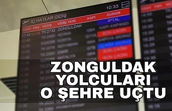 Zonguldak yolcuları komşu havalimanına indi