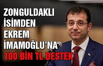 Zonguldaklı isimden İmamoğluna 100 bin TL destek