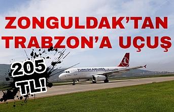 Zonguldak'tan Trabzon'a THY bileti 205 TL