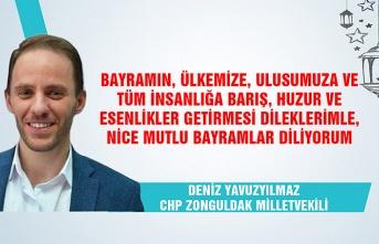 CHP Zonguldak Milletvekili Deniz Yavuzyılmaz Ramazan Bayramı'nı kutladı