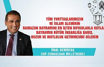 CHP Zonguldak Milletvekili Ünal Demirtaş Ramazan Bayramı'nı kutladı