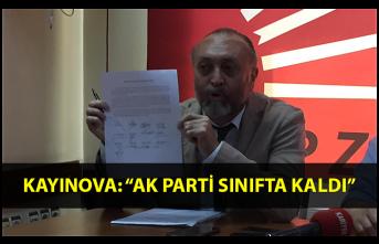 "Kayınova: ""AK Parti sınıfta kaldı"""