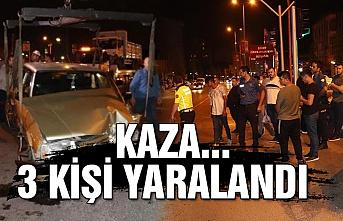 Kaza... 3 kişi yaralandı
