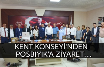 Kent Konseyi'nden Posbıyık'a ziyaret…