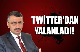Vali Bektaş, Twitter'dan yalanladı