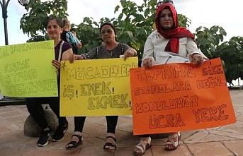 Yerlerinden edilen kadınlar eylemlerini sürdürüyor
