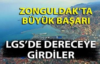 Zonguldak'ta büyük başarı... LGS'de dereceye girdiler...