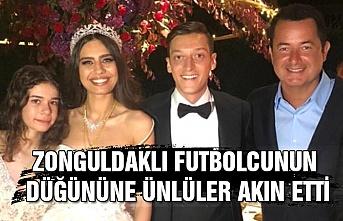 Zonguldaklı futbolcunun düğününe ünlüler akın etti