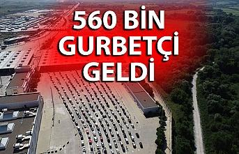560 bin gurbetçi Türkiye'ye giriş yaptı